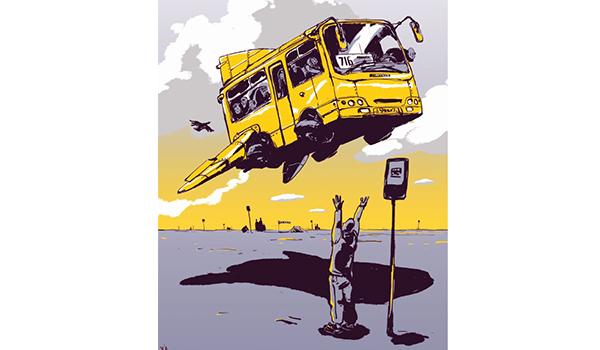 Going. | Yellow&Blue – obraz współczesnej Ukrainy – wystawa plakatów - Warsztaty Kultury